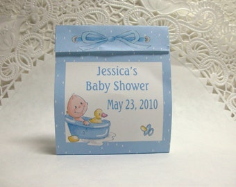 Baby Shower Tealight Favor- Baby Boy- Set of 25