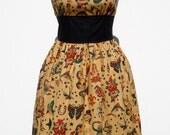 Tattoo Art Vintage Inspired Dress /  Rockabilly Pinup Dress