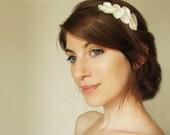 Troy Bridal peigne, Ivoire satin et perle grec inspiré de cheveux accessoriesValentine