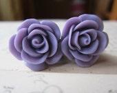 Flower Plugs  Gauges  Light Purple Roses
