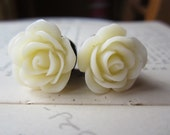 Flower Plugs Gauges Cream Roses
