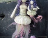 Needle Felted Mermaid, Mother and child, Sea Urchin, Mermaid Mama, Baby Girl, limited edition, Design by Borbala Arvai, MADE TO ORDER