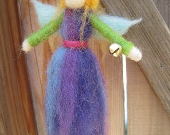 Needle felted Angel Ornament - blonde