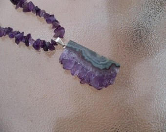 Deep, Rich Purple Amethyst and Sterling Silver Necklace by Mama's Got A Bead Box on Etsy