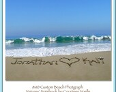 Unique Engagement Wedding Gift - Personalized Gift Names written in REAL Beach Sand- Paper Anniversary Gift - U PRINT-Bride and Groom Gift