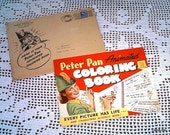 Peter Pan Animated Coloring Book, Derby Foods, Inc, 1940's