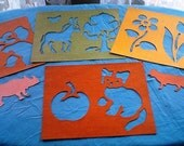 Cardboard Cutouts for Home Schooling, Crafting, Stencilling, Coloring