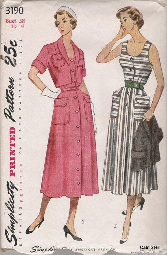 Simplicity 3190 Sz 38 Sundress from 1950