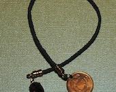 Waxed Irish Linen Braided Bookmark with Treasures