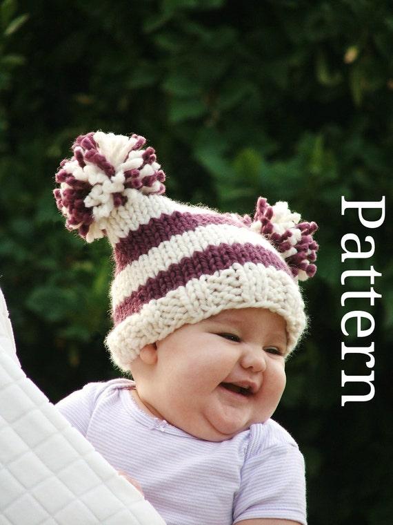 Baby Knitting Pattern Knit Hat Knitting pattern PDF by CreatiKnit