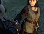 Womens Vest - Denim Vest - Medieval Vest - Renaissance Vest - Pirate Vest - Renaissance Faire Vest