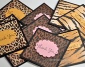 Animal Print  Born to be Wild- Thank You Mini Cards Customer Thank You Cards ( Variety Pack )