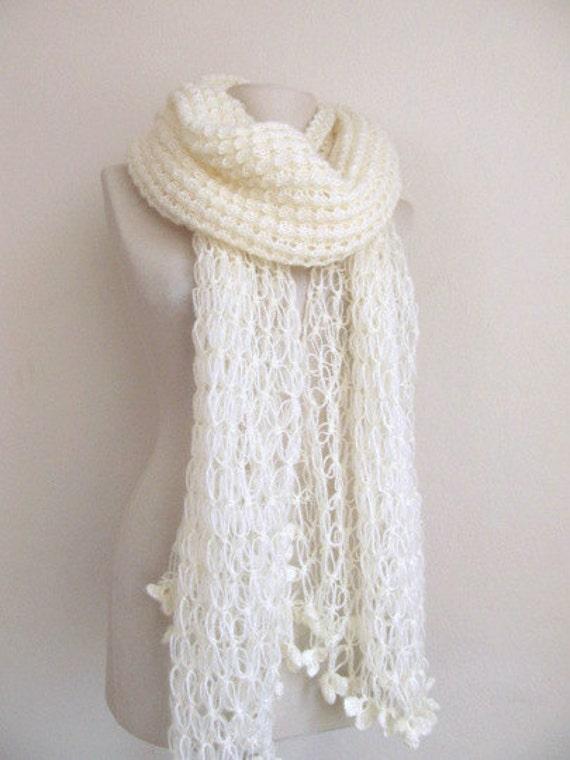 Bridal Shawl // OFF-WHITE shaw // Ivory Mohair Honey Comb Shawl-wedding bridal shawl.knitting,necktie,shrug, wrap, stole,