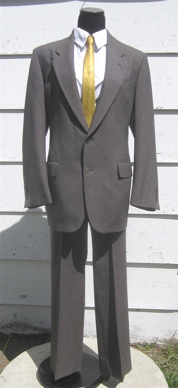 Vintage 1980s Man's 2pc Christian Dior Slim PINSTRIPE Summer Suit by Hart Schaffner & Marx
