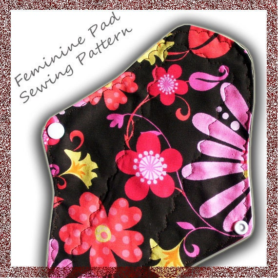 cloth menstrual pads sewing patterninstant download