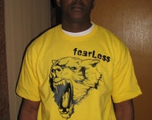 Fearless wolf t-shirt for men, animal graphic t-shirts fro men