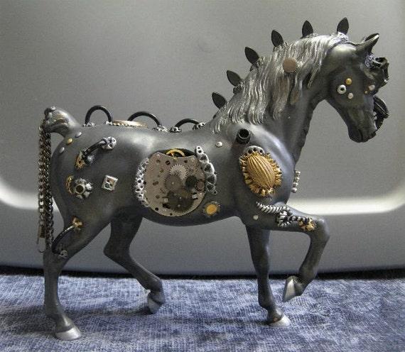 Customized Cyborg Horse - Unique Robot Equine  - CM Breyer OOAK