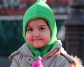 Cozy Fleece Hoodie Hat . Cagoule douce en polaire - SIMON col. 69 kelly green