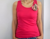 SALE %25 off Womens Tank Womens Top in Pink Tshirt for Women