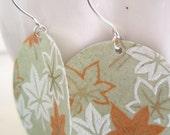 Fall Leaves Origami Earrings