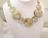 Fall Leaves Origami Statement Necklace