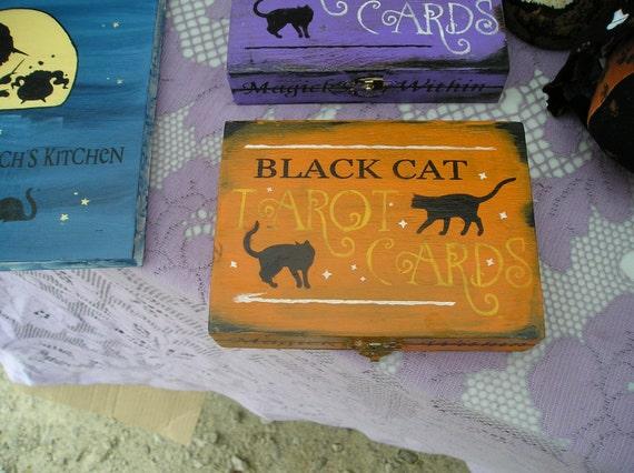 Tarot Card Box Holder Playing Card Box Black Cat Card