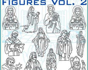 Religious Figures Vol. 2 Vector Clipart