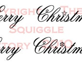 2 Merry Christmas - Digital Stamps