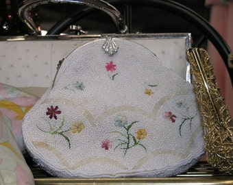 Vintage 1960's beaded purse made in  hong kong