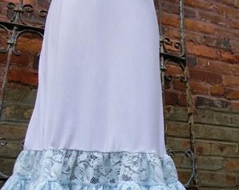 Something blue short wedding slip crinoline