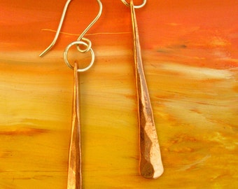 Copper Icicles Dangle Earrings