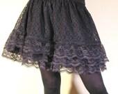 Very Lacey Black Miniskirt