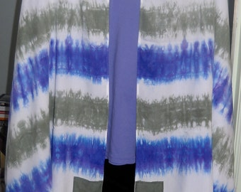 "Custom Order Tallit Hadar Fabric Arts  Tie-Dyed  22"" x 72"", deposit price.  White w/colored stripes or Multi-monochrome"