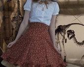 """Sample SALE- 23"""" (for 23-27"""" natural waist)- Steampunk Lolita Corset Skirt, high waisted skirt"""