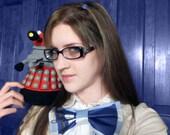 TARDIS Bow Tie- Custom designed fabric, custom made
