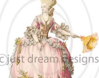 Digital Instant Download Marie Antoinette no 4  digital collage sheet for altered art crafts scrapbooking