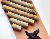 Peach Wine Cork Board with Starfish Hook - Beach Decor Cottage Chic Home Decor