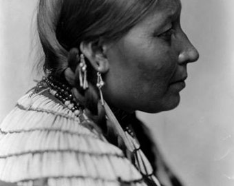 Wife of American Horse Dakota Sioux Indian image 8 1/2  x 11.