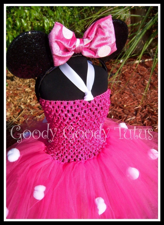 Little Miss Minnie Pink Crocheted Tutu Dress And Mouse Ears