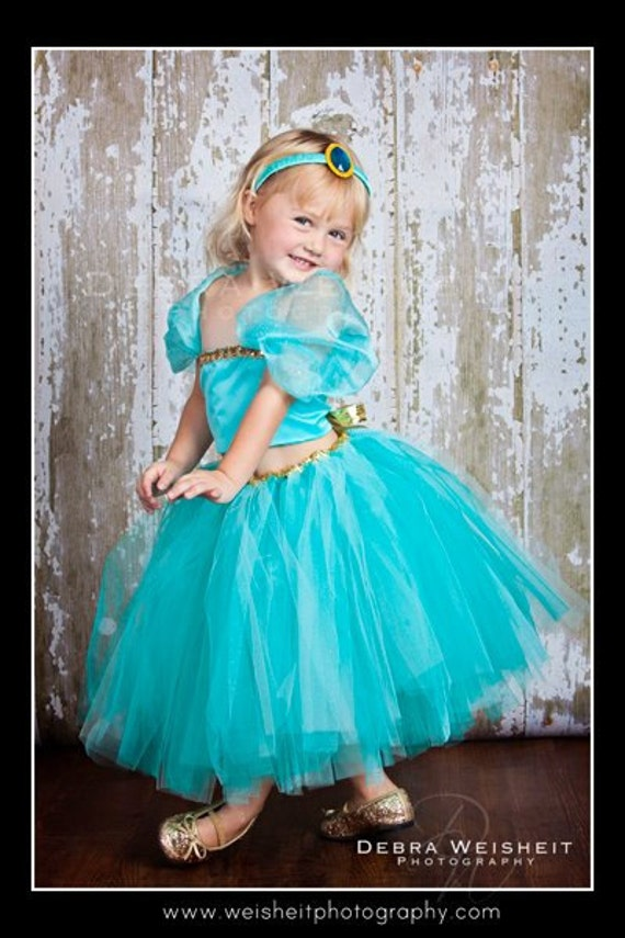 ALADDIN'S SWEETHEART Princess Jasmine Inspired Tutu & Corset Top Set with Headband
