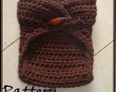 Crochet PATTERN 132, Newborn Baby Diaper Cover, Chocolate Brown, Photography Prop