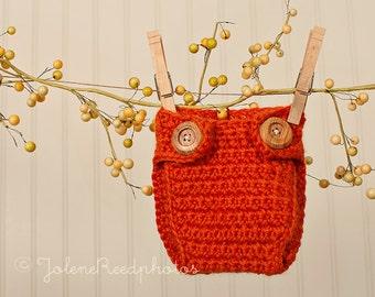 Crochet PATTERN 108, Cross Stitch Newborn Diaper Cover, Photography Prop