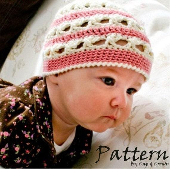 Crochet PATTERN 107, Baby Chic Spring Beanie Hat, Photo Prop