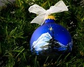 Silent Night PERSONALIZED HANDPAINTED CHRISTMAS ornament