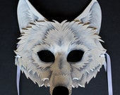 White Wolf Mask - MADE TO ORDER Leather Mask