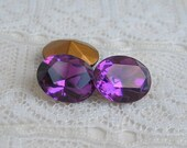 Swarovski Vintage Rhinestone 10x8 mm Oval Amethyst Purple