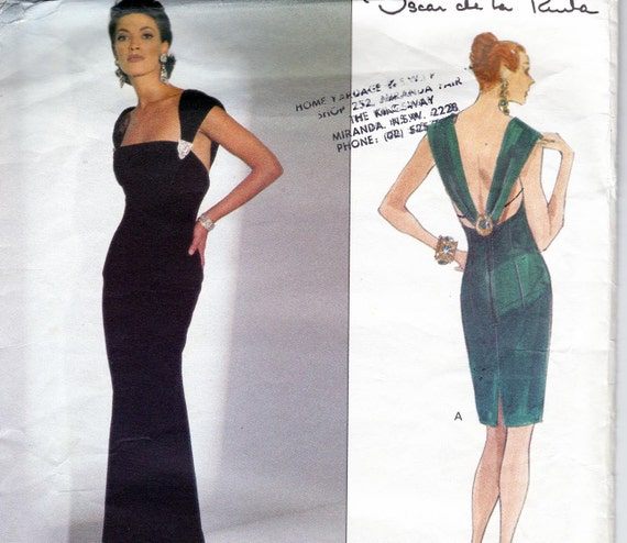 90s Vintage Vogue American Designer Pattern 2797 by Oscar De La Renta Size 8 10 12 UNCUT FF