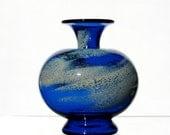 Cloudy Sky Vase, Blown Glass Vase