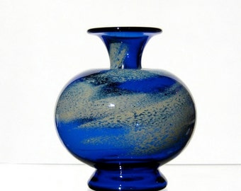 Cloudy Sky Vase, Blown Glass Vase