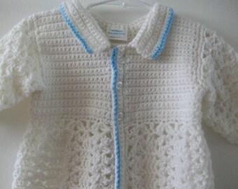 White Christening Sweater